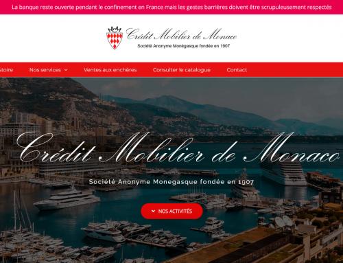 Site web Credit Mobilier De Monaco